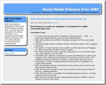 IABC Takes The Lead With The Social Media Release