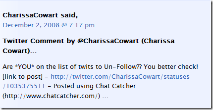 Chat Catcher