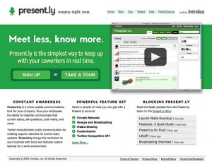 Present.ly – Internal Microblogging Just Got Better