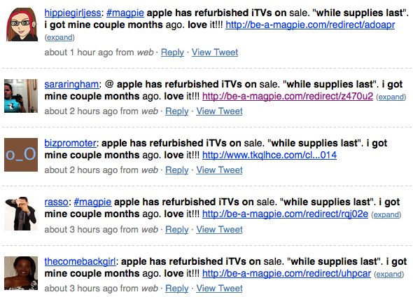 Apple ads on Magpie
