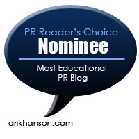"Vote in the PR ""Readers' Choice"" Blog Awards"