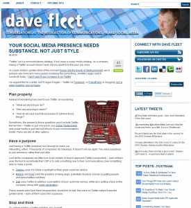 New davefleet.com homepage