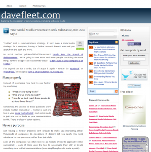 A New Look For DaveFleet.com
