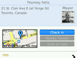 Foursquare location information on SocialScope