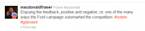 Tweet by Fraser Macdonald