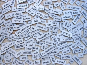 Photo of lots of words