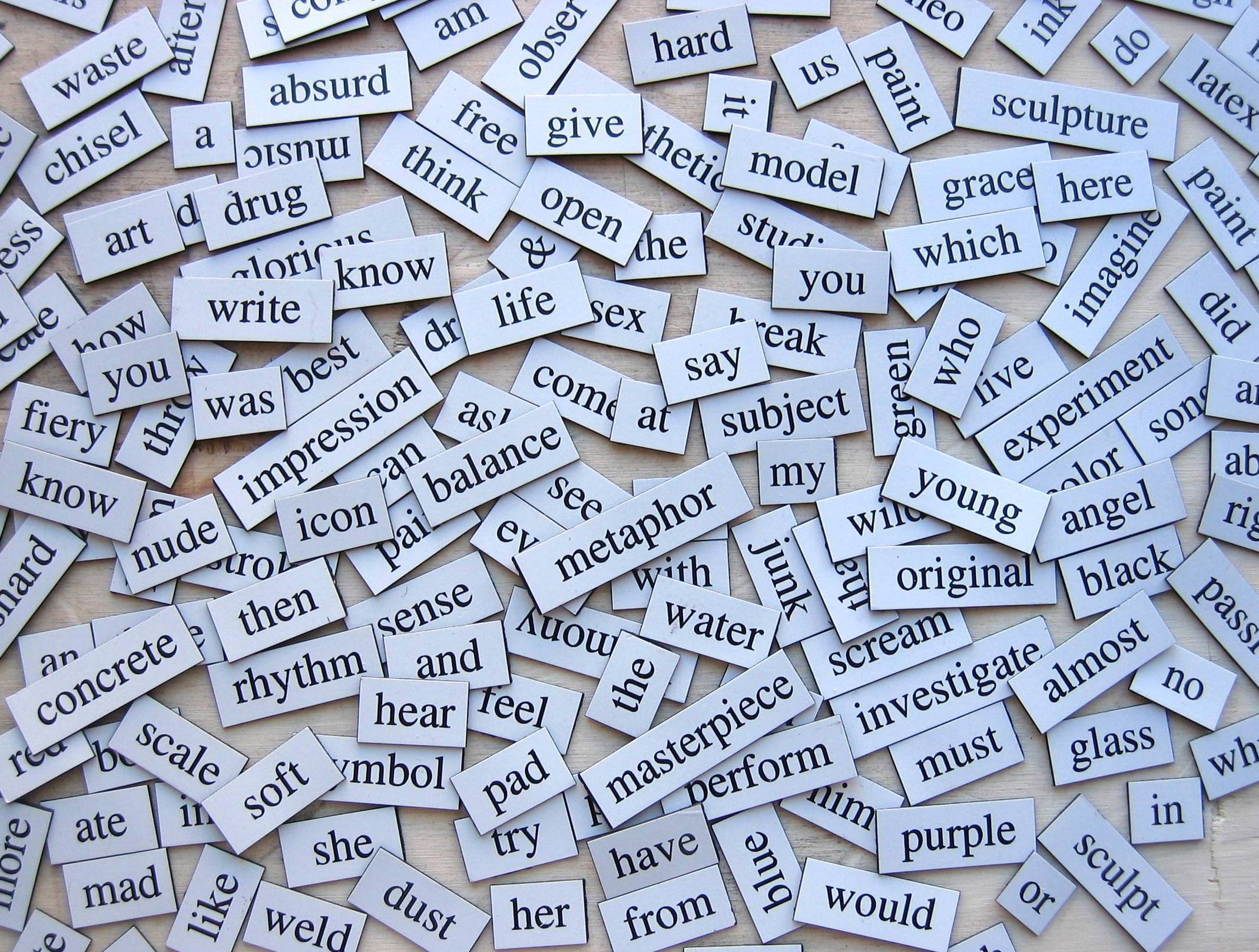 Photo of lots of words...